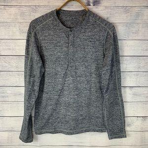 Lululemon Surge Henley Long Sleeve Shirt Men's S